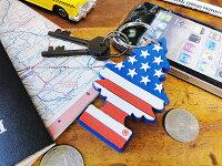 リトルツリーのラバーキーリング(星条旗/バニラプライド)■アメリカ雑貨アメリカン雑貨