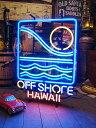 【全国送料無料・代引き不可】オフ・ショアのネオン管(クラシックロゴ)(ハワイ) ■ アメリカ雑貨 アメリカン雑貨