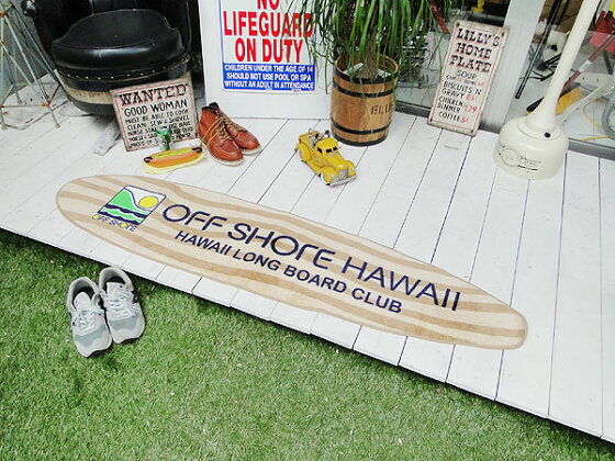 オフショアのロングボード型フロアマット(ハワイ)★アメリカ雑貨★アメリカン雑貨