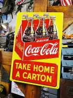 コカ・コーラのエンボスティンサイン6パック・カートンボックス★コカコーラグッズ雑貨グッズブランドCoca-Colaアメリカ雑貨アメリカン雑貨