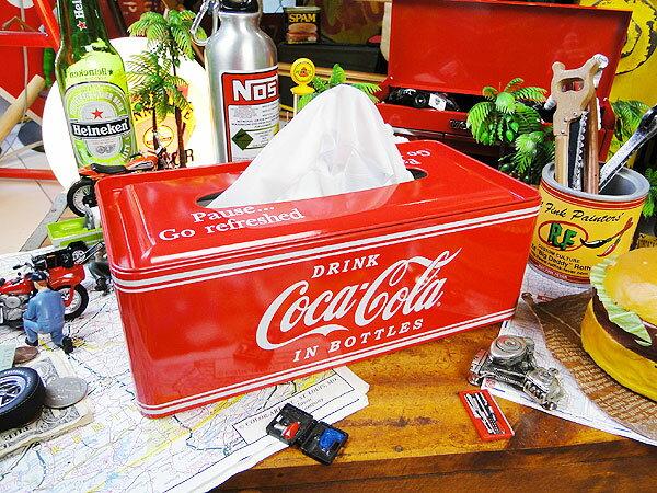 いやーやっぱり絵になります!yahoo!トップに掲載! コカ・コーラブランド ティッシュケース 「楽天1位」 ■ コカコーラグッズ 雑貨 グッズ ブランド Coca-Cola アメリカ雑貨 アメリカン雑貨 コーラ 置物 インテリア おしゃれ 人気 小物 こだわり派が夢中になる! 男前