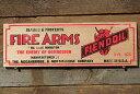 アメリカンガレージのミニウッドサイン(ファイヤーアームズ) ■ アメリカ雑貨 アメリカン雑貨 壁掛け 壁飾り インテ…