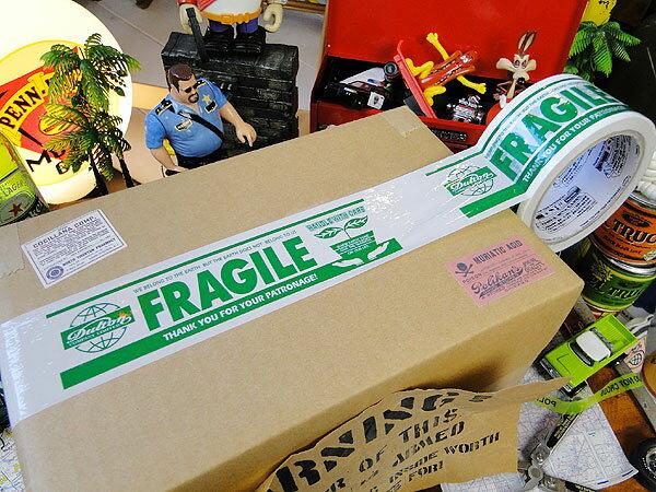 ダルトン フラジール・パッキングテープ(グリーン) ■ アメリカ雑貨 アメリカン雑貨 dulton パッキングテープ おしゃれ FRAGILE 人気 ブランド かわいい 通販 梱包 テープ