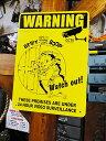 ベティ・ブープのプラスチックサインボード(24時間監視中) ■ アメリカ雑貨 アメリカン雑貨 壁掛け 壁飾り インテリ…