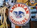 アメリカンオイルメーカーのU.S.ヘヴィースチールサイン(アメリカンガソリン) ■ サインプレート ブリキ アメリカ看…