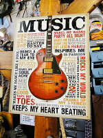 音楽が好きだ!ミュージックのブリキ看板★アメリカ雑貨★アメリカン雑貨
