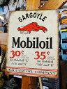 モービルのブリキ看板(ガーゴイル) ■ サインプレート ブリキ アメリカ看板 ティンサイン サインボード アメリカン…