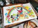 まるで50年代のディズニーホテル気分♪ 50'sヴィンテージ ミッキーマウスのランチョンマット(レインボー) ■ アメリ…
