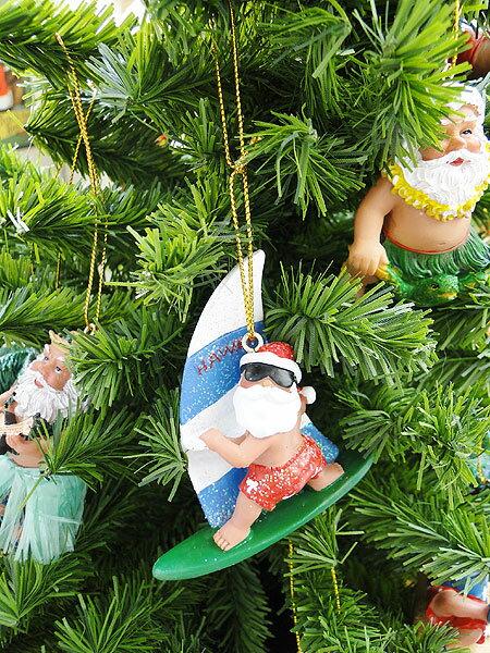 ハワイ好きに贈る!スペシャルクリスマス!ハワイアン・クリスマスオーナメント(ウィンドサーフィンサンタ)★パーティーグッズ★アメリカ雑貨★アメリカン雑貨