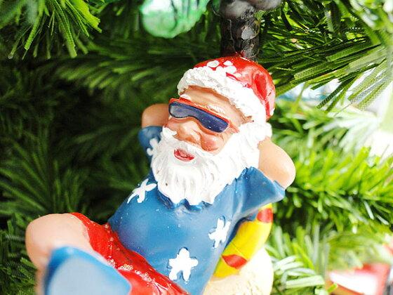 ハワイ好きに贈る!スペシャルクリスマス!ハワイアン・クリスマスオーナメント(アンダーザツリーサンタ)★パーティーグッズ★アメリカ雑貨★アメリカン雑貨