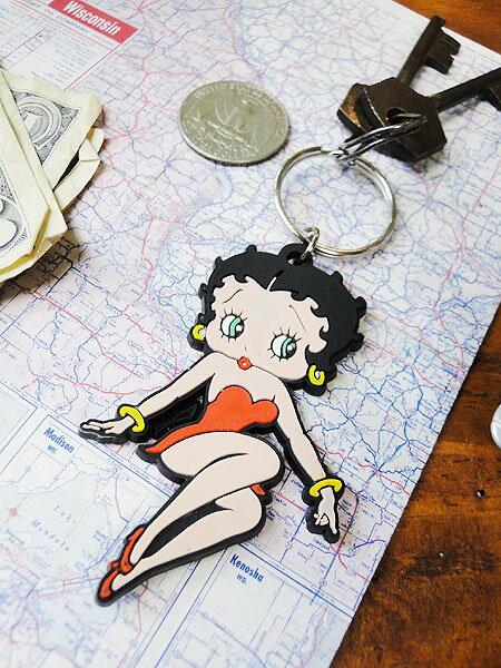 ベティ・ブープのラバーキーリング(レッドドレス)■アメリカ雑貨アメリカン雑貨