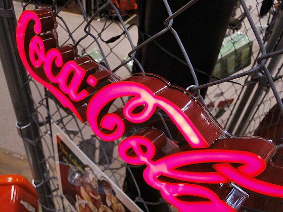コカ・コーラブランドLEDミニレタリングサイン★コカコーラグッズ雑貨グッズブランドCoca-Colaアメリカ雑貨アメリカン雑貨