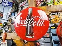 コカ・コーラブランド3Dボタンサイン■コカコーラグッズ雑貨グッズブランドCoca-Colaアメリカ雑貨アメリカン雑貨