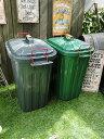 ペール×ペール・ダストボックス 60リットルサイズのゴミ箱(2色セット) ■ ダストボックス ダストBOX アメリカ 雑貨 アメリカン雑貨 木箱 樽 ゴミ箱 人...