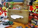 ヴィンテージ感溢れる見た目に変身!カルチャーマートのウッド製ティッシュボックス(ストレージ) ■ アメリカ雑貨 アメリカン雑貨 ティッシュボックス ティッシュケース 木製 おしゃれ ティッシュカバー