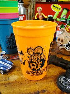 ラットフィンクのプラカップ(オレンジ) ■ こだわり派が夢中になる! 人気のアメリカ雑貨屋 アメリカ 雑貨 アメリカン雑貨 生活雑貨 おしゃれ 人気 ギフト プレゼント マグカップ カッコ
