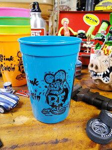 ラットフィンクのプラカップ(ブルー) ■ こだわり派が夢中になる! 人気のアメリカ雑貨屋 アメリカ 雑貨 アメリカン雑貨 生活雑貨 おしゃれ 人気 ギフト プレゼント マグカップ カッコイ