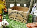このUSED感なのに、実は新品!7UPウッドボックス(Mサイズ) ■ アメリカ雑貨 アメリカン雑貨 アンティーク風木箱 木箱 小箱 小物入れ ガーデニング ケース 小物 ボックス 通販 ワイン 収納