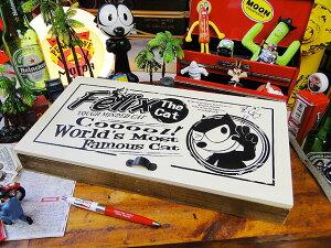 フィリックスのウッドアクセサリーケース(ホワイト) ■ アメリカ雑貨 アメリカン雑貨