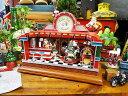 ソーダファウンテンのクリスマスミュージカルオブジェ ■ 飾り インテリア 装飾 ガーランド メリー クリスマス ディスプレイ x・・・