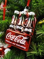 コカ・コーラブランドクリスマスオーナメント(6パック)■飾りインテリア装飾ガーランドメリークリスマスディスプレイxmasデコレーションツリーパーティーグッズオーナメントアメリカン雑貨プレゼントギフト人気おしゃれ