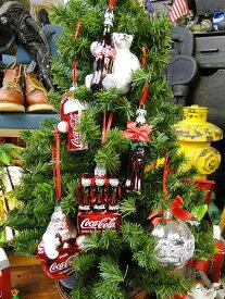コカ・コーラブランド クリスマスオーナメント(6点セット) ■ 飾り インテリア 装飾 ガーランド メリー クリスマス ディスプレイ xmas デコレーション ツリー パーティーグッズ オーナメント アメリカン雑貨 プレゼント ギフト 人気 おしゃれ コーラ