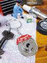 クルマ好きの男心にドンズバ☆ クルマのカスタムパーツのキーリング(ブレーキキャリパー&ローター) ■こだわり派が…