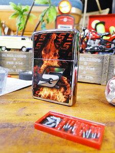 スナップオンのジッポーライター(Sロゴ・ファイヤー) ■ アメリカ雑貨 アメリカン雑貨 喫煙具 ライター おもしろ おしゃれ 人気 喫煙グッズ ギフト プレゼント メンズ レディース zippo
