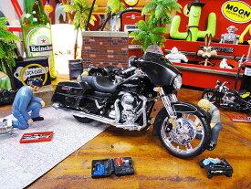 マイスト 2015年ハーレーダビッドソン ストリートグライドのモデルカー 1/12スケール ■ ミニカー アメ車 アメリカ雑貨 アメリカン雑貨 アメリカ 雑貨 小物 モデルカー 正規品 インテリア