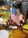 星条旗のミニフラッグ+スタンド付き(ヘヴィータイプ) ■ アメリカ雑貨 アメリカン雑貨 のれん おしゃれ ロング 暖簾…