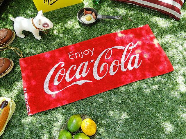 「魅せるタオル」 コカ・コーラブランド フェイスタオル ■ アメリカン雑貨 アメリカ雑貨 アメリカ 雑貨 インテリア おしゃれ 人気