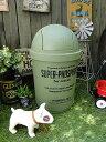 カルチャーマートの35Lダストビン(オリーブ) ■ゴミ箱 ダストボックス ダストBOX ゴミ箱 トラッシュ アメリカ雑貨 …