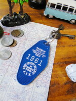 ハワイレインボードライブインのホテルキーホルダー(ブルー)■アメリカ雑貨アメリカン雑貨ハワイ雑貨