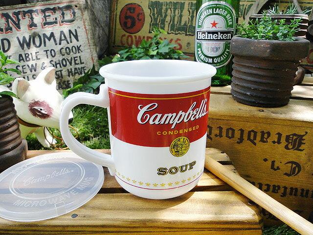 キャンベルのスープマグ(フタ付き) ■ アメリカ雑貨 アメリカン雑貨