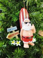 ハワイアン・クリスマスオーナメント(サーフサンタ・ゴッドサーフ)■飾りインテリア装飾ガーランドメリークリスマスディスプレイxmasデコレーションツリーパーティーグッズオーナメントアメリカン雑貨プレゼント