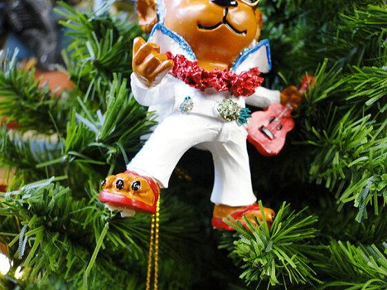 ハワイアン・クリスマスオーナメント(エルヴィスベアー)■飾りインテリア装飾ガーランドメリークリスマスディスプレイxmasデコレーションツリーパーティーグッズオーナメントアメリカン雑貨プレゼント