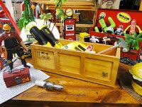 コンテナ木箱の小物入れ(スリムボックス/ブラウン)■アメリカ雑貨アメリカン雑貨
