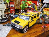 JadaハマーH2のダイキャストモデルカー1/24スケール(イエロー)■アメリカ雑貨アメリカン雑貨