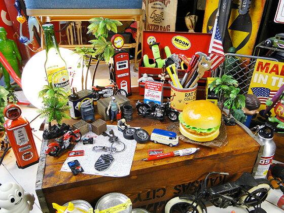 ハーレーダビッドソンのメタルキーリング(B&Sカーボン/B)■アメリカン雑貨人気アメリカ雑貨通販インテリアグッズかっこいい男の部屋アメリカン雑貨小物キーホルダーファッションharleydavidson