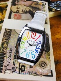 天才時計師フランク三浦の腕時計 零号機(改)通常サイズ(レインボーホワイト) ■ アメリカ雑貨 アメリカン雑貨 おもしろ雑貨 おもしろグッズ 人気 おしゃれ 腕時計 メンズ 黒 通販 ウォッチ