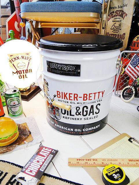 ベティ・ブープのオイル缶スツール ■ アメリカ雑貨 アメリカン雑貨