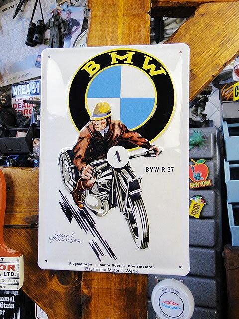 世界のオートバイの3Dメタルサイン(BMW R37) ■ サインプレート ブリキ アメリカ看板 ティンサイン サインボード アメリカンブリキ看板 アメリカ 雑貨 アメリカン雑貨 おしゃれ 壁面装飾 装飾 ディスプレイ 内装 人気 ウォールデコレーション 男前 インテリア 雑貨