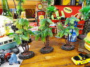 南の島のヤシの木のオブジェ(台付き/Sサイズ3個セット) ■ アメリカ 雑貨 アメリカン雑貨 ハワイ 雑貨 ハワイアン