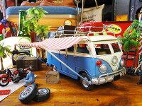 ワーゲンバスキャンピングカーのブリキオブジェ■アメリカ雑貨屋通販アメリカ雑貨