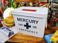 マーキュリーのエマージェンシーボックス(ホワイト)■アメリカ雑貨アメリカン雑貨