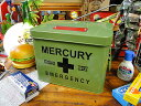 マーキュリーのエマージェンシーボックス(カーキ) ■ アメリカ雑貨 アメリカン雑貨 アメリカ 雑貨 アウトドア 収納 …