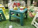 フォルディング・テーブル(グリーン) ■ アメリカン雑貨 アメリカ雑貨 アメリカ 雑貨 人気 おしゃれ アウトドア キャ…