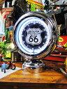 このカタチ!見れば見るほど欲しくなる・・・ガスランプ・テーブルネオンクロック(ルート66) ■ アメリカ雑貨 アメ…