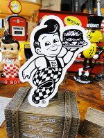 ビッグボーイのオフィシャルステッカー(ブラック)■アメリカ雑貨アメリカン雑貨