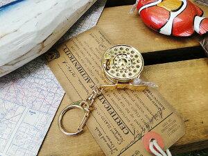 フィッシュ フライリールのメジャーキーホルダー 100cm ■ アメリカ雑貨 アメリカン雑貨
